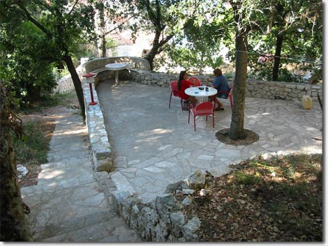 The spacious stone terrace – an ideal place for gatherings